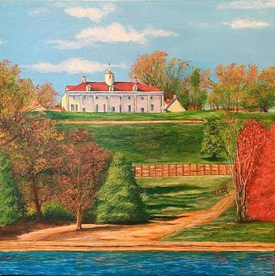 Mount Vernon Painting - George Washington's Mount Vernon by Aicy Karbstein