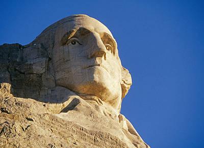 Mount Rushmore Photograph - George Washington's Mug by Buddy Mays