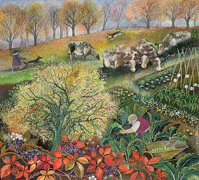 Herding Dog Painting - George's Allotment by Lisa Graa Jensen