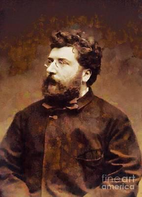 Georges Bizet, Composer By Sarah Kirk Art Print