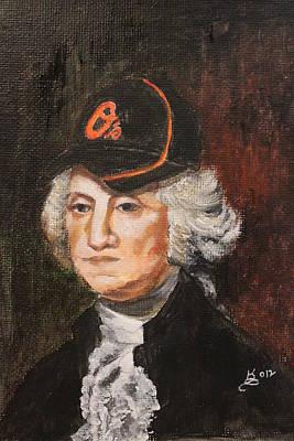 Baseball Cap Painting - George's Cap by Kim Selig
