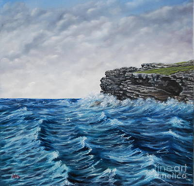 Georges Head Kilkee Oil Painting Art Print by Avril Brand