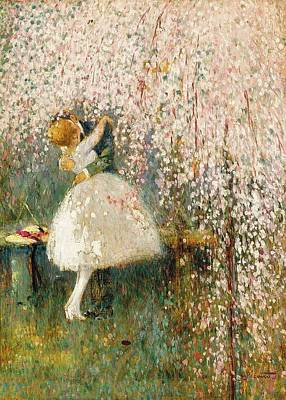 Soap Suds - Georges Picard French 1857 1946 Romance under the blossom tree by Artistic Panda