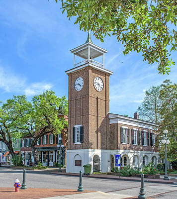 Photograph - Georgetown Clock Tower by Mike Covington