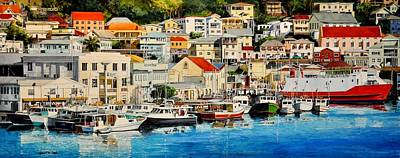 Painting - Georgetown Harbor, Grenada by Robert W Cook