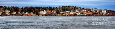 Georgetown Island Bay Point In Maine Art Print by Olivier Le Queinec