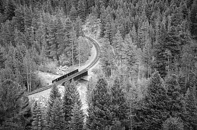 Photograph - Georgetown To Silver Plume Railroad by Susan McMenamin