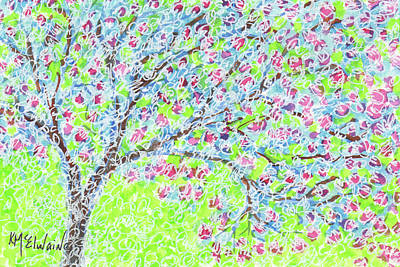 Painting - Georgetown Tx Crepe Myrtle By Kmcelwaine by Kathleen McElwaine