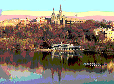 Georgetown University Crew Team Art Print by Charles Shoup