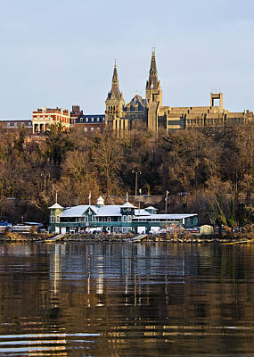 Steeple Photograph - Georgetown University Waterfront  by Brendan Reals