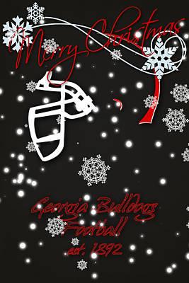 Georgia Bulldogs Christmas Card 2 Print by Joe Hamilton