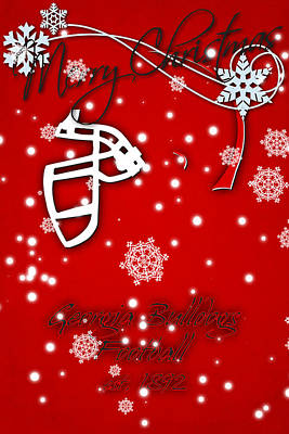 Georgia Bulldogs Christmas Card Print by Joe Hamilton