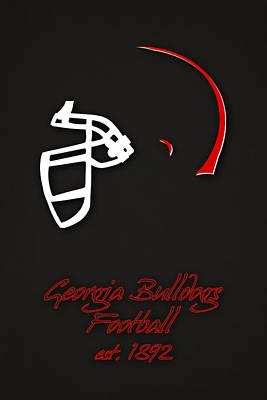 Georgia Bulldogs Helmet 2 Print by Joe Hamilton