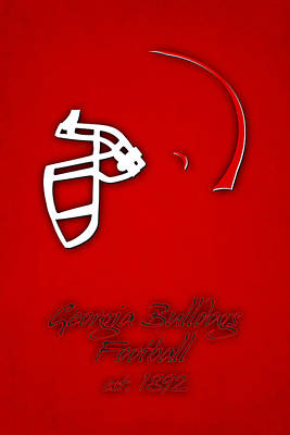 Georgia Bulldogs Helmet Art Print