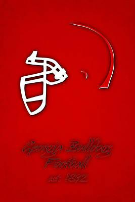 Georgia Bulldogs Helmet Print by Joe Hamilton