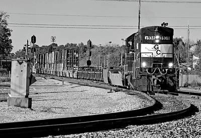Photograph - Georgia Central U23b #3938 B W by Joseph C Hinson Photography