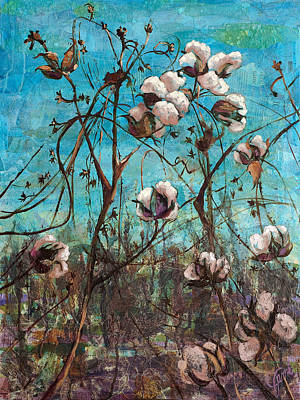 Oil Painting - Georgia Cotton by Jami Childers