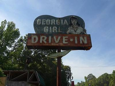 Photograph - Georgia Girl Drive In Sign by James Calemine