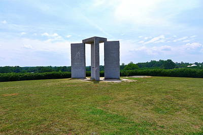 Photograph - Georgia Guidestones by Denise Mazzocco