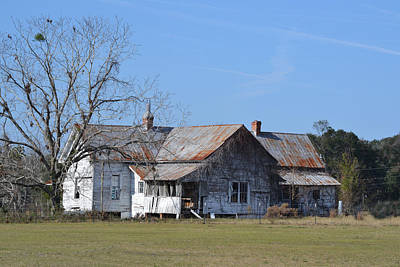 Photograph - Georgia Homestead House For Sale by rd Erickson