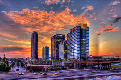 Photograph - Georgia On My Mind Majestic Atlantic Station Midtown Atlanta Sunset Art by Reid Callaway