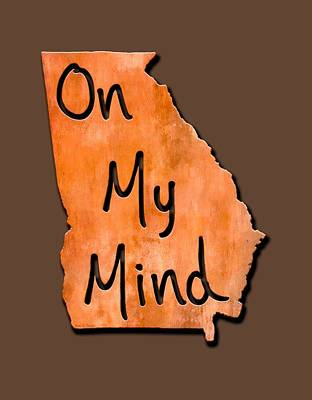 Digital Art - Georgia On My Mind State Map by Mark E Tisdale