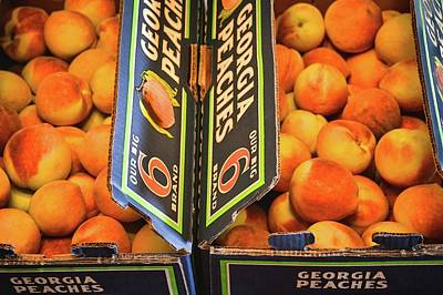 Photograph - Georgia Peaches In Boxes by Greg Jackson
