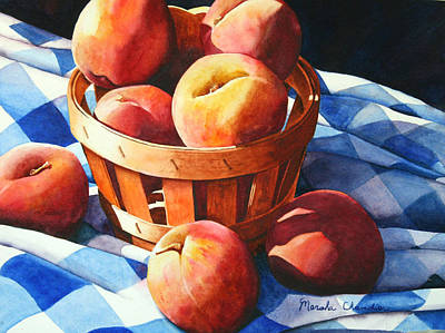 Georgia Peaches Art Print by Marsha Chandler