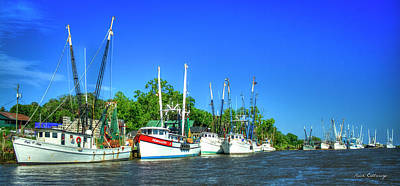Georgia Shrimpers Shrimp Boats Darien Georgia Art Print