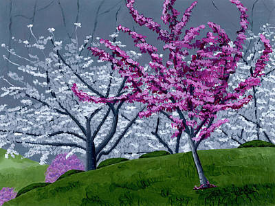 Cherry Blossoms Painting - Georgia Spring by Christina Steward
