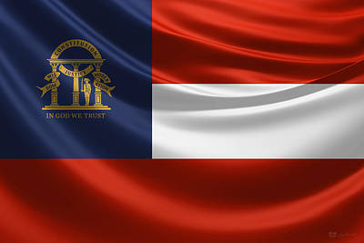 Digital Art - Georgia State Flag by Serge Averbukh