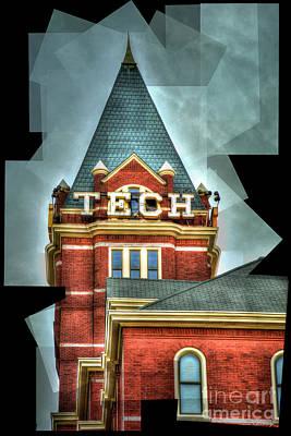 Photograph - Georgia Tech 7 Ga Tech Tower Abstract Art by Reid Callaway