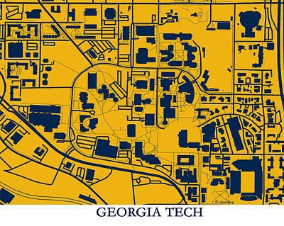 Georgia Tech Campus Art Print by Spencer Hall