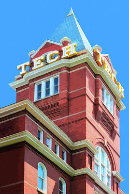 Digital Art - Georgia Tech Tower by Mark Tisdale
