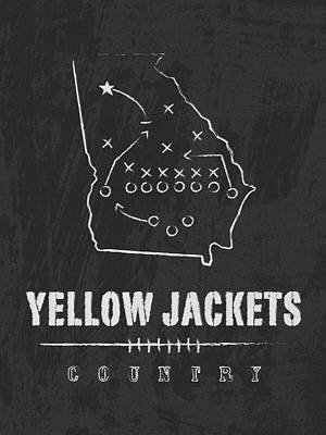 Georgia Tech Yellow Jackets / Ncaa College Football Art / Atlanta Art Print by Damon Gray