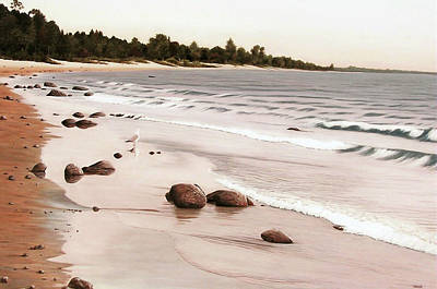 Georgian Bay Beach Art Print by Kenneth M  Kirsch