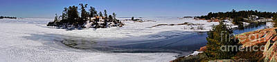 Photograph - Georgian Bay Ice And Snow Panorama In Killarney Provincial Park by Charline Xia