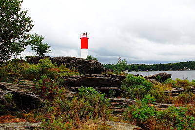 Photograph - Georgian Bay Lighthouse At Killbear by Debbie Oppermann