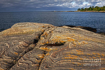 Photograph - Georgian Bay Rock From Eon by Charline Xia