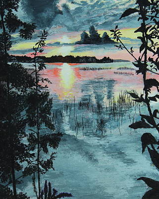 Painting - Georgian Bay Sunset by Thom Barker