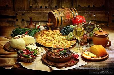 Photograph - Georgian Restaurant by Marina Volodko