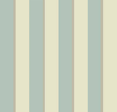 Digital Art - Georgian Stripe Eau De Nil by Sarah Vernon