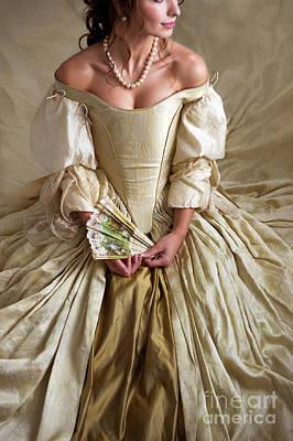 Photograph - Georgian Woman Wearing A Beautiful Ball Gown by Lee Avison