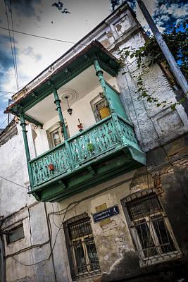 Tbilisi Photograph - Georgian Wooden Balcony by John Grummitt