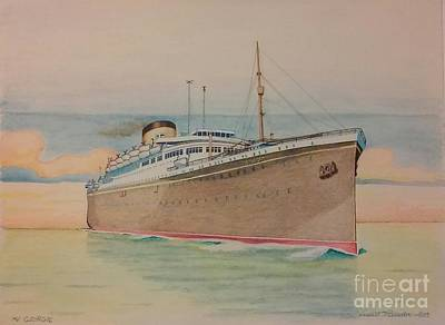 Liner Mixed Media - Georgic  by Russell Parmerter