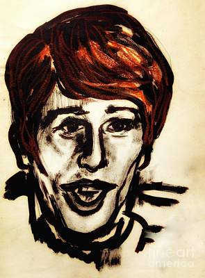 Painting - Georgie Fame Portrait by Joan-Violet Stretch