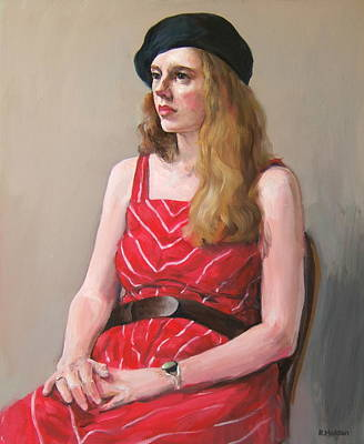 Painting - Georgina In Red by Robert Holden