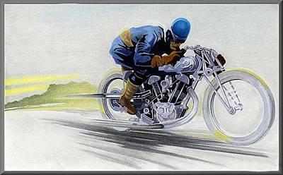 Geo's Bike Art Print by Lyle Brown