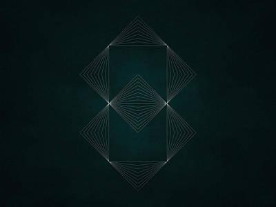Black Lines Digital Art - Geosymmetry 4vvv by Edouard Coleman