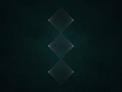 Black Lines Digital Art - Geosymmetry 9i by Edouard Coleman